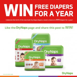 WIN DryNaps diapers for year!