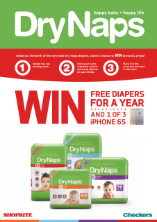 WIN with DryNaps and Shoprite!
